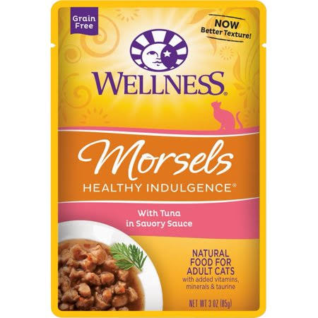 Wellness Cat Food - Morsels With Tuna In Savory Sauce, 85g