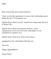 Sample Thank You Letter W A Franke College of Forestry