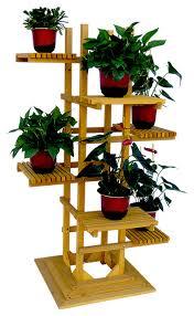 Leisure Season Ltd 6 Tier Wooden Pedestal Plant Stand View in
