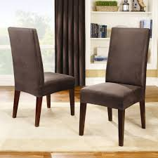 Dining Chair Covers Elegant Sure Fit Stretch Leather Room Cover Brown 5 Best