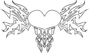 Coloring Pages For Adults Roses And Hearts With Wings Pictures Of Free Printable Heart Kids