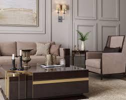 casa padrino luxus deco samt sessel beige dunkelbraun hochglanz gold 75 x 75 x h 105 cm edler wohnzimmer sessel luxus deco möbel