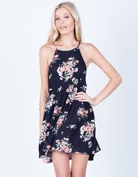 pretty floral printed dress navy blue dress flowy floral dress