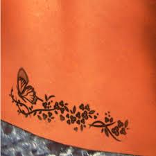 Butterfly Flower Tattoos On Lower Back For Women