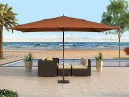 Solar Lighted Rectangular Patio Umbrella by Patio 58 Blue Walmart Patio Umbrella With Iron Stand For Chic