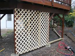Vinyl Patio Curtains Outdoor by Adding Lattice To The Bottom Of A Deck Outdoor Spaces Decking