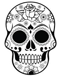 Printable Halloween Coloring Pages For Adults Sugar Skull Ornate Flowers Flower Cartoons