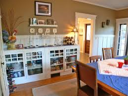Close Up View Of Built In Buffet The Formal Dining Room Take