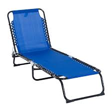 Outsunny 3-Position Reclining Beach Chair Chaise Lounge Folding Chair -  Navy Blue