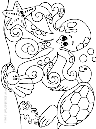 Sea Creatures Coloring Pages Free Printable Ocean For Kids Picture