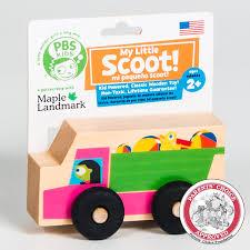 100 Toy Trucks For Kids The Official PBS KIDS Shop PBS KIDS My Little Scoot Wooden Dump Truck
