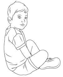 393x480 Child Coloring Page Free Printable Pages