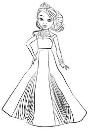 Audrey Descendants Coloring Pages Evie
