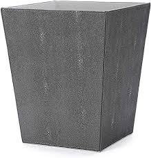 wv abfalleimer aus kunstleder dunkelgrau papierkorb zeitschriftenhalter für badezimmer küche heimbüro dunkelgrau
