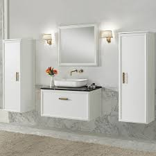 klassisches badezimmer finitura laccato bianco