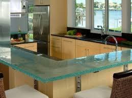 glass tile kitchen countertops amazingly modern glass tile
