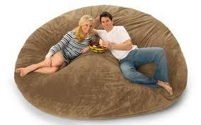 8 Foot Lovesac Big One Foam Bag Bean Sofa