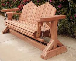 Wood Lawn Bench Plans by Garden Glider Plans Redwood Glider Swing Bench Projects To Try