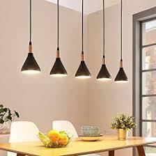 lindby led pendelleuchte arina modern in schwarz aus metall ua für wohnzimmer esszimmer 5 flammig e14 a inkl leuchtmittel hängeleuchte