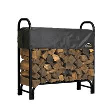 shelterlogic 4 ft firewood rack with cover 90401 the home depot