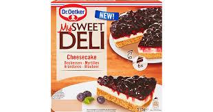 dr oetker my sweet deli cheesecake mit blaubeeren denner