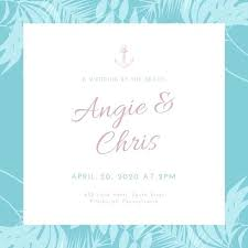 Rustic Beach Wedding Invitations Blue Invitation Wording