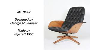 Mr. Chair By George Mulhauser Mid Century Modern - YouTube Iconic Midcentury Lounge Chairs Vintage Industrial Style Plycraft Lounge Chair Overloginfo Plycraft Chair George Mulhauser Mid Century Modern Tufted Randy Leather And Hide 187 Orge Mulhauser Mr Ottoman American For By A Rejuvenating Aymerick Bookyume Ottoman Youtube