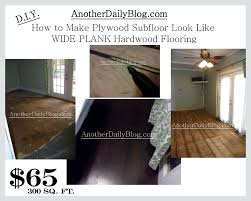 DIY How To Make Plywood Subfloor Look Like Wide Plank Hardwood Flooring