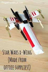 How to Make a Star Wars X Wing Starfighter out of fice Supplies