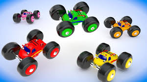Learn Colors With Toy Monster Trucks Parking On Wooden Slider   3d ... Monster Truck Designer Custom Cookies Perfect Party Favor For Birthday Cookiesdecorative Pinterest Ideas At In A Box Blaze Cgf21 And The Machine Vehicle Mattel Cookie Pictures Jam Cake Crissas Corner Carrie Tagged Brickset Lego Set Guide And Database Bestwtrucksnet Radio Flyer With Lights Sounds 6v Battery Beta Revamped Crd Beamng