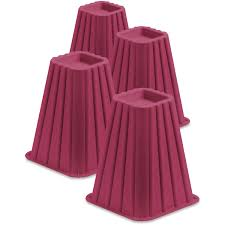 Heavy Duty Bed Risers by Honey Can Do Bed Risers Set Of 4 Walmart Com