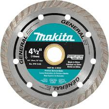 Superior Tile Cutter Wheel by Makita 4 1 2 In Turbo Rim General Purpose Diamond Blade A 94552