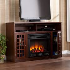 Furniture Rustic Style Tv Stand Cabinet Featuring Electric Fireplace Insert