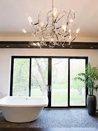 Modern Chandelier Over Bathtub by Photos Bath Crashers Hgtv