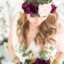 boho floral crown by deluxe blooms