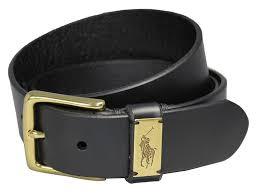 polo ralph lauren men u0027s casual leather belt tan 32 at amazon