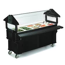 Cambro BBR480110 Tabletop Salad Bar, W/Sneeze Guard, 48