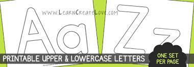 Printable Letters Numbers