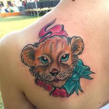 Not All Lion Tattoos Need To Have An Element Of Realism Added Them You Can Find Many Amazing Cartoon Styled Themes That Really Stand Out And