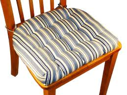 Kitchen Chair Cushions With Ties On Dining Room