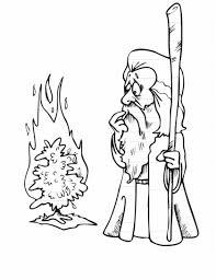 Moses Confronts Pharaoh Coloring Sheet Wesleyan Kids Pages Burning Bush Adult Sheets
