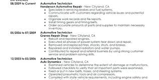 Automotive Technician Resume Objective Auto Mechanic Examples Bunch Ideas Of