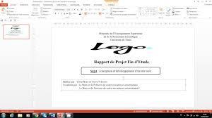 Page De Garde Pour Une Présentation PowerPoint PPT YouTube