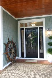 coral front door entry traditional with above window transitional