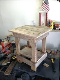 Pallet End Tables Table Made From Pallets Wood Patio Ideas