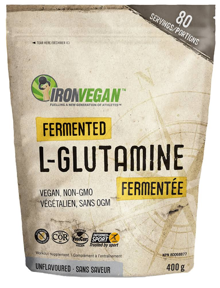 Iron Vegan Fermented L-Glutamine (400g - Unflavoured)