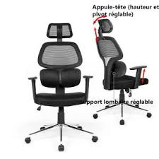 bureau ergonomique r lable en hauteur fauteuil de bureau ergonomique achat vente fauteuil de bureau
