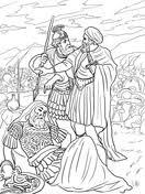 David Spares King Saul