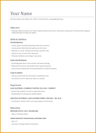 Waitress Resume Examples Sample For Server Cv Example No Experience Breathtaking Template Australia How To Write