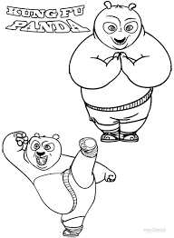 Kung Fu Panda Po Coloring Pages